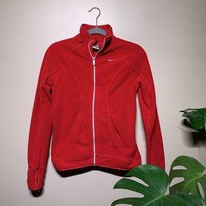 Red fleece Nike jacket | size XS